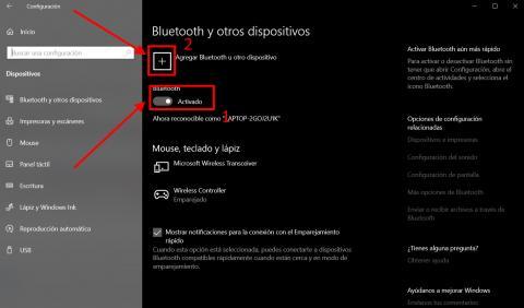 Cómo conectar cualquier dispositivo Bluetooth con Windows 10