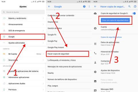 Cómo crear una copia de seguridad completa en Android con Google Drive