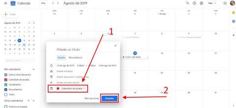 Cómo crear un nuevo calendario con Google Calendar