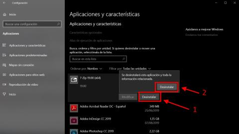 Cómo desinstalar un programa en Windows 10