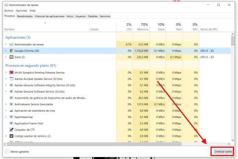 Cómo forzar el cierre de una aplicación congelada en Windows