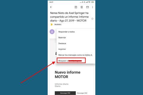 Cómo rechazar correos Gmail desde Android o iPhone