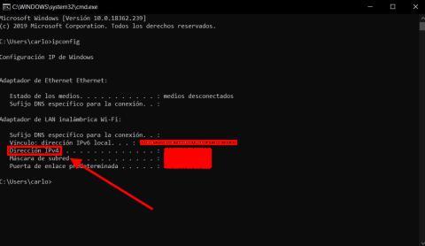 Cómo saber la dirección IP en Windows 10