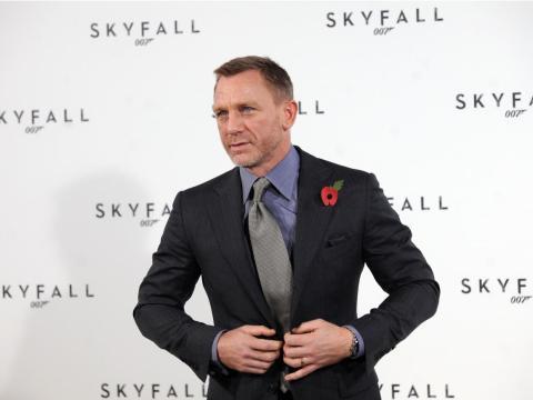 Daniel Craig en el estreno de Skyfall.