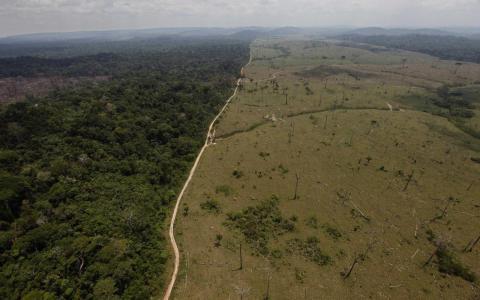 Un área deforestada cerca de Novo Progresso, en el norteño estado brasileño de Pará, en 2009.