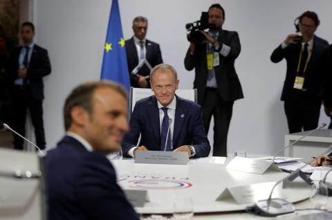 Donald Tusk en el G7.