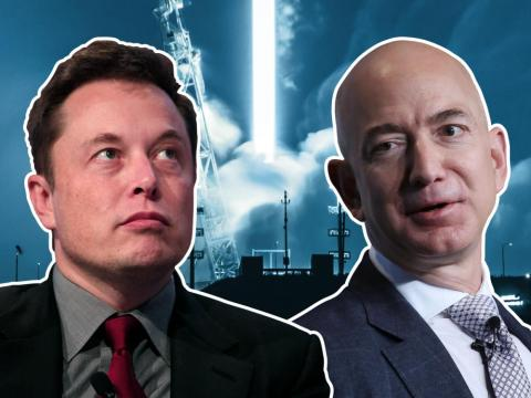 Elon Musk and Jeff Bezos both have grand plans to colonise space.