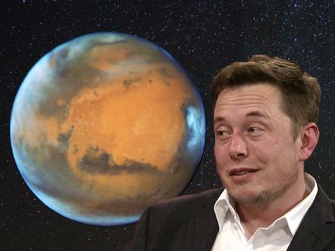 Elon Musk dice que lanzar armas nucleares podría ayudar a que Marte sea habitable.