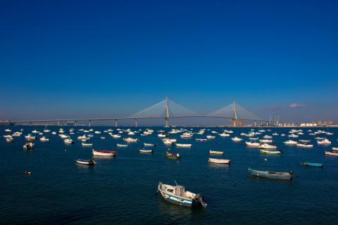 Una estampa de la Bahía de Cádiz.