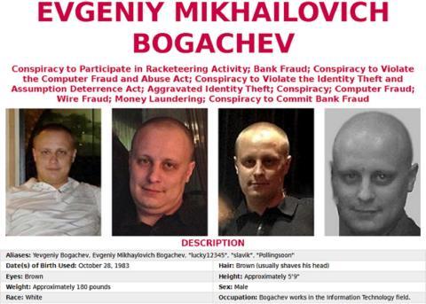 Evgeniy Mikhailovich Bogachev, el FBI ofrece una recompensa de hasta tres millones de dólares desde el año pasado.