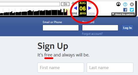 Eslogan de Facebook el 6 de agosto.