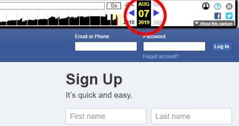 Eslogan de Facebook el 7 de agosto.