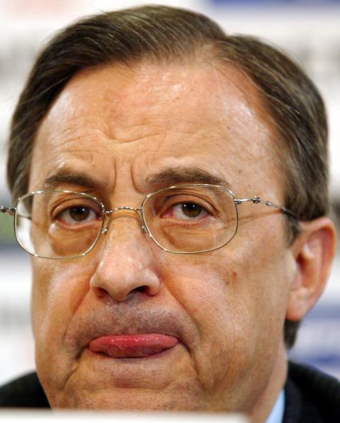 Florentino Pérez en una rueda de prensa.