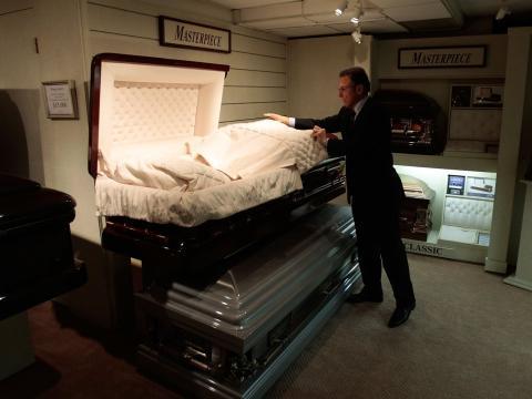 El formaldehído es común en las funerarias.