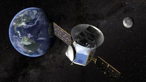 Ilustración del telescopio TESS de la NASA