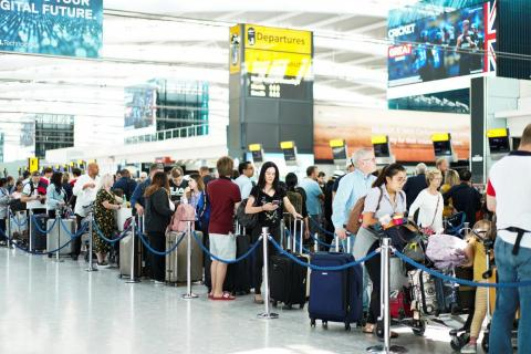 Terminal 5 at Heathrow Airport in London on August 7.