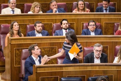 Inés Arrimadas y Albert Rivera en el Congreso de los Diputados.