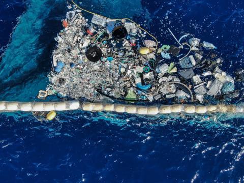Isla de basura en el Océano Pacífico