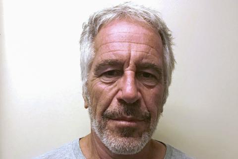 Jeffrey Epstein en el registro de criminales sexuales.