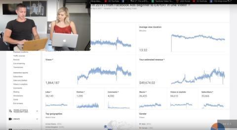 Kevin David y sus estadísticas de su canal de YouTube