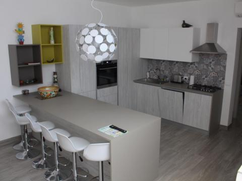 The kitchen wouldn't have looked out of place in a trendy, New York condo ...