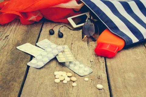 Llevar pastillas a la playa.