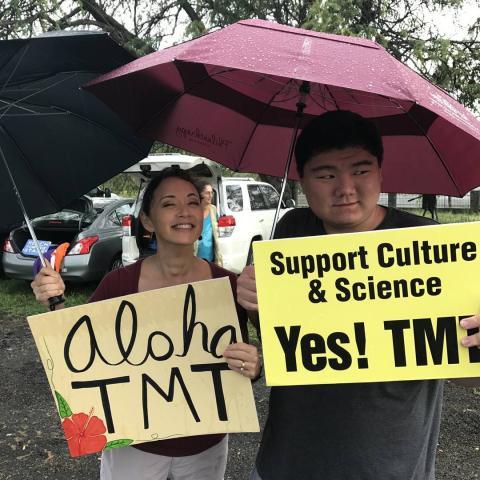 Manifestaciones de apoyo al TMT