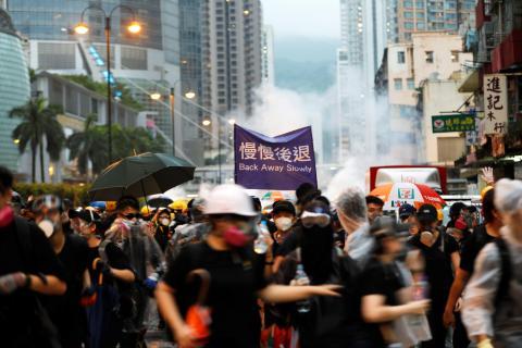 Manifestantes contra la ley de extradicción en Hong Kong