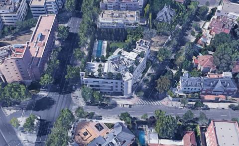 Mansión de Florentino Pérez, a vista del satélite.