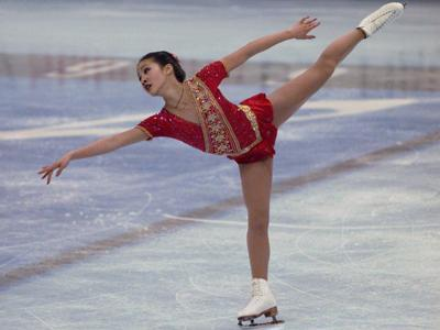 Michelle Kwan is the daughter of two Hong Kong immigrants and a five-time world champion figure skater.