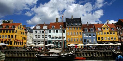 The Nyhavn district of Denmark's capital city, Copenhagen.