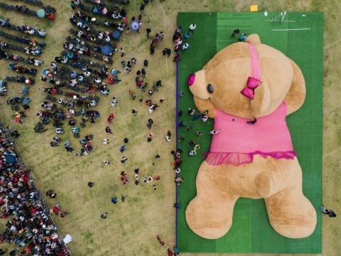The world's largest teddy bear.