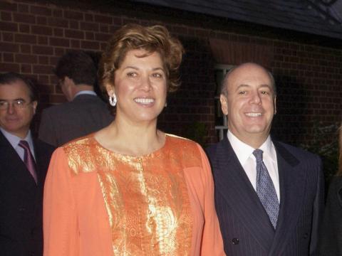 Patricia Kluge y su tercer marido, Bill Moses, en 2003.