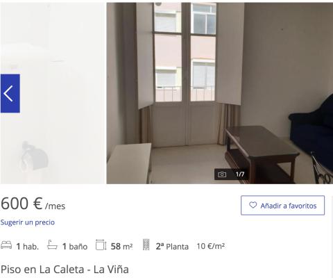 Piso en alquiler en Cádiz