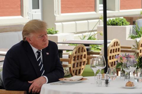 El presidente Donald Trump, durante el G7 en Biarritz.