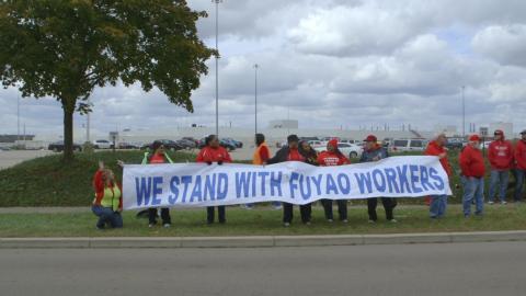 Protesta de trabajadores de Fuyao.