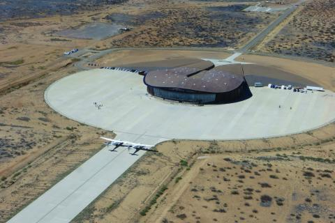 El centro de operaciones de Virgin Galactic.