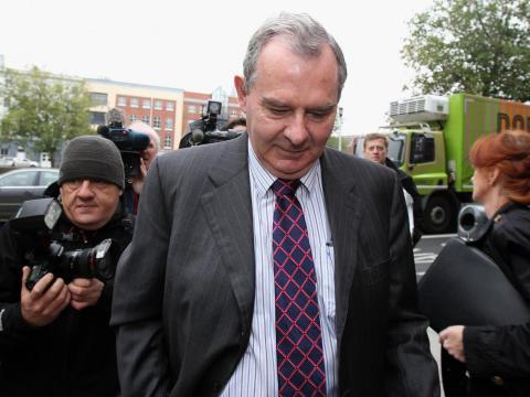 Sean Quinn el 19 de octubre de 2012, después de que se aplazara su juicio..