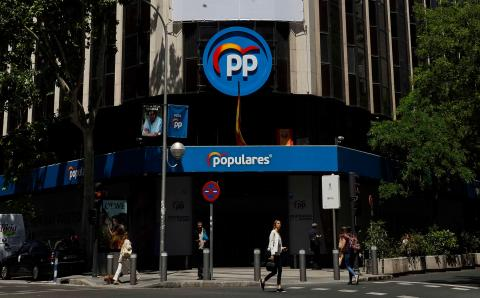 Sede del PP en calle Génova, Madrid.