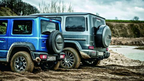 Suzuki Jimny, Mercedes Clase G y Jeep Wrangler