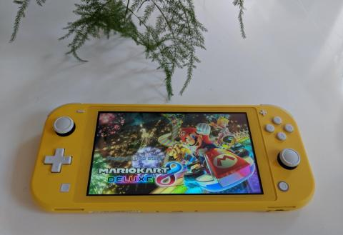 The Switch Lite feels noticeably lighter than the original Switch, and a bit sturdier without the detachable Joy-Cons. The software and games felt identical to the original Switch in terms of performance.