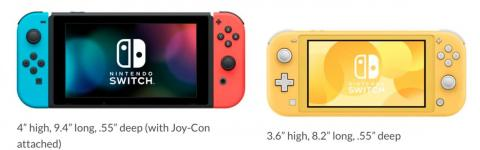 The Switch Lite has a 5.5-inch screen from corner to corner, while the original Switch has a 6.2-inch screen. The Switch Lite has a smaller screen than the smallest iPhone XS, which is 5.8 inches across.