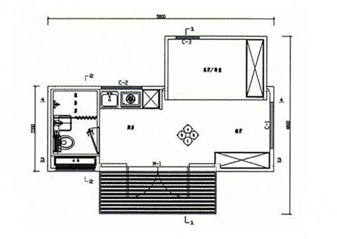 Take a look at the floor plan to see what the layout looks like inside.