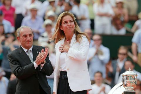 La tenista retirada Arantxa Sánchez Vicario