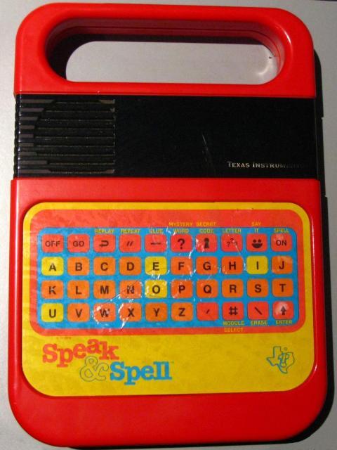 Speak & Spell de Texas Instruments: entre 50 y 100 dólares