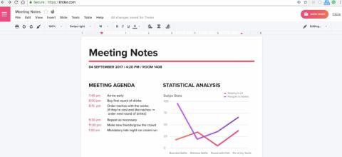Tinder Meeting Notes