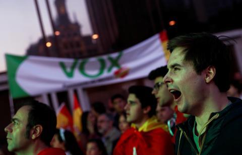 Votantes de Vox.