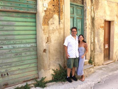 Gary and Tamara Holm in Sambuca.