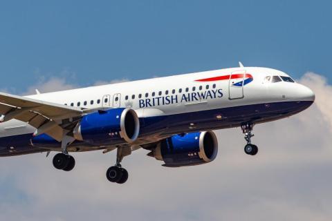 A British Airways Airbus A320neo.