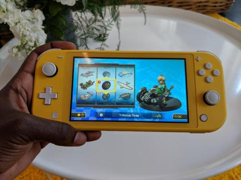 Without Joy-Cons, the Switch Lite doesn't have motion controls or HD rumble support, but it's much easier to hold in one hand.